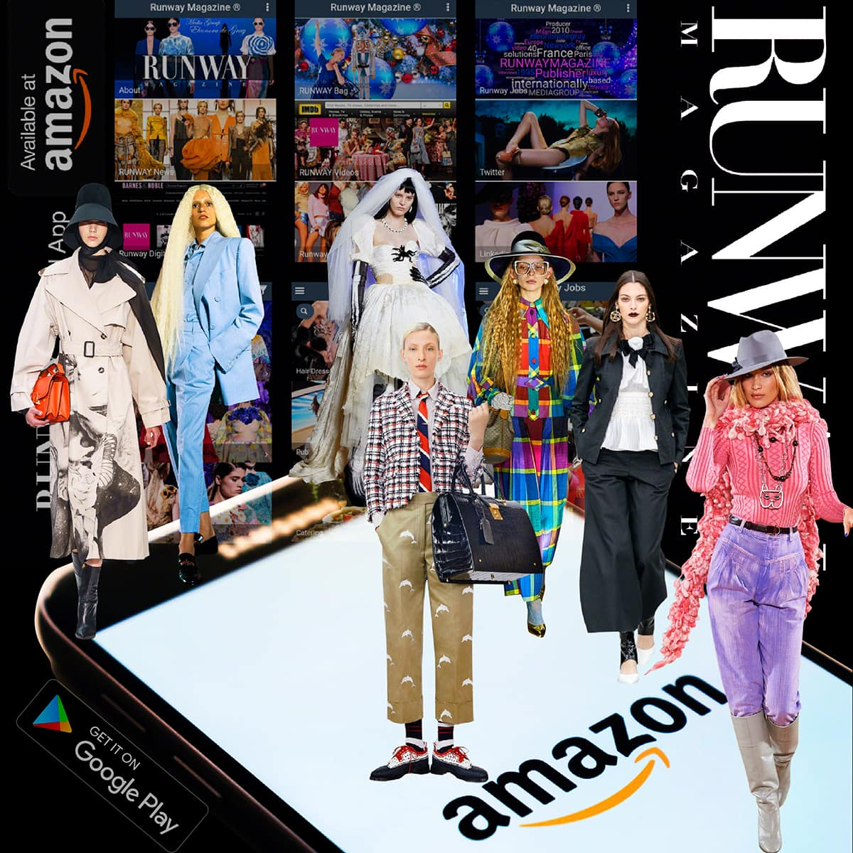 RUNWAY MAGAZINE application for android on Google Play and Amazon