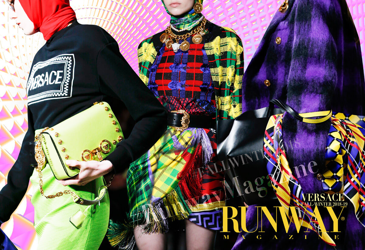 "VERSACE Fall-Winter 2018-2019 Milan by Runway Magazine <a href=""https://runwaymagazines.com"">RUNWAY MAGAZINE </a>"