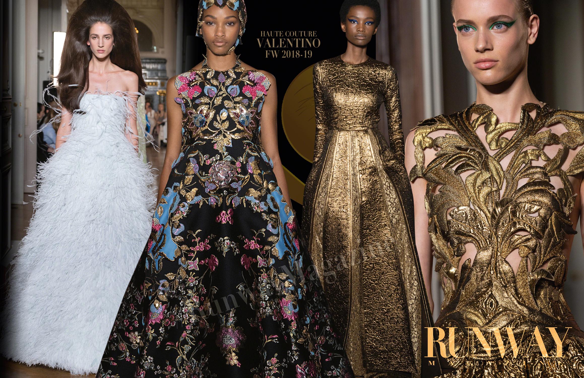 VALENTINO Haute Couture Fall Winter 2018-2019 Runway Magazine