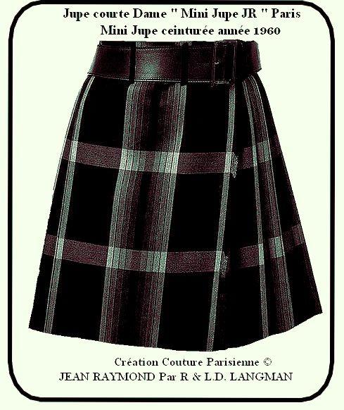 Miniskirt 60s TailorJEAN RAYMOND
