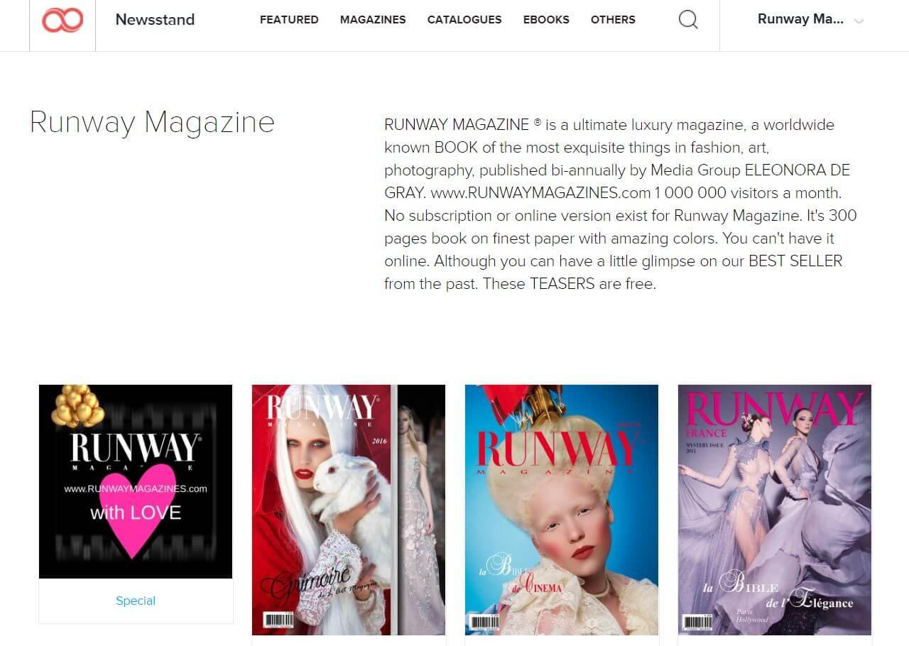 RUNWAY MAGAZINE Digital issues