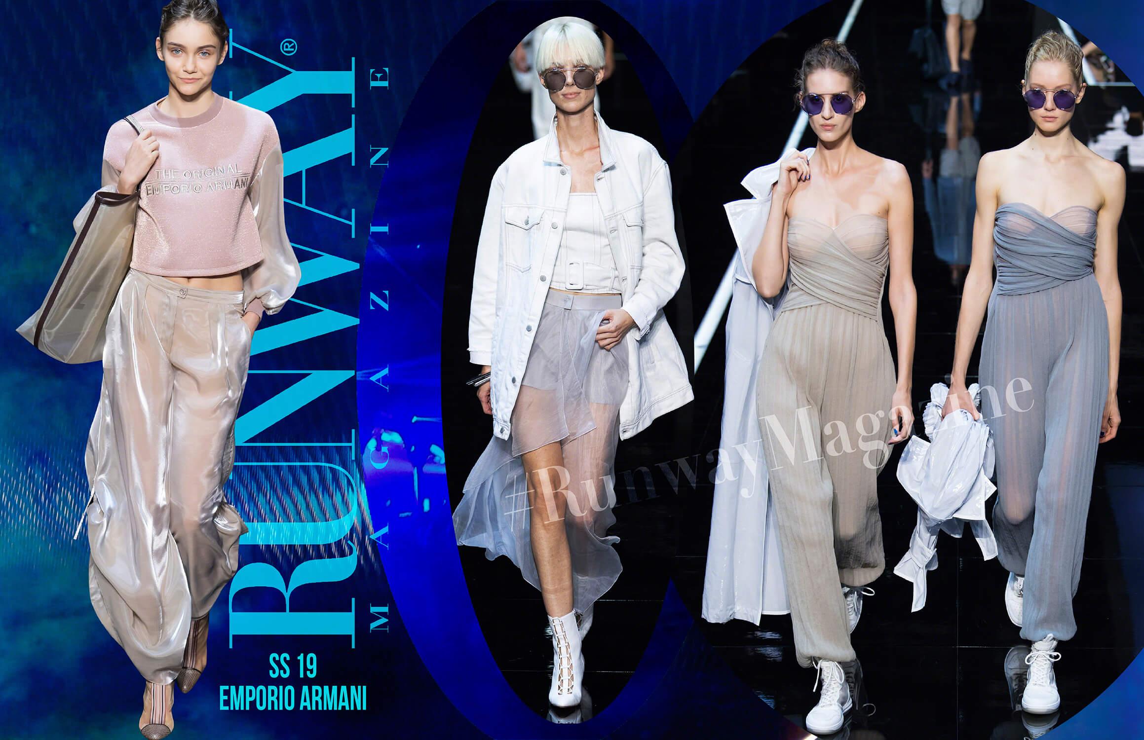 Emporio Armani Spring Summer 19 Milan by Runway Magazine