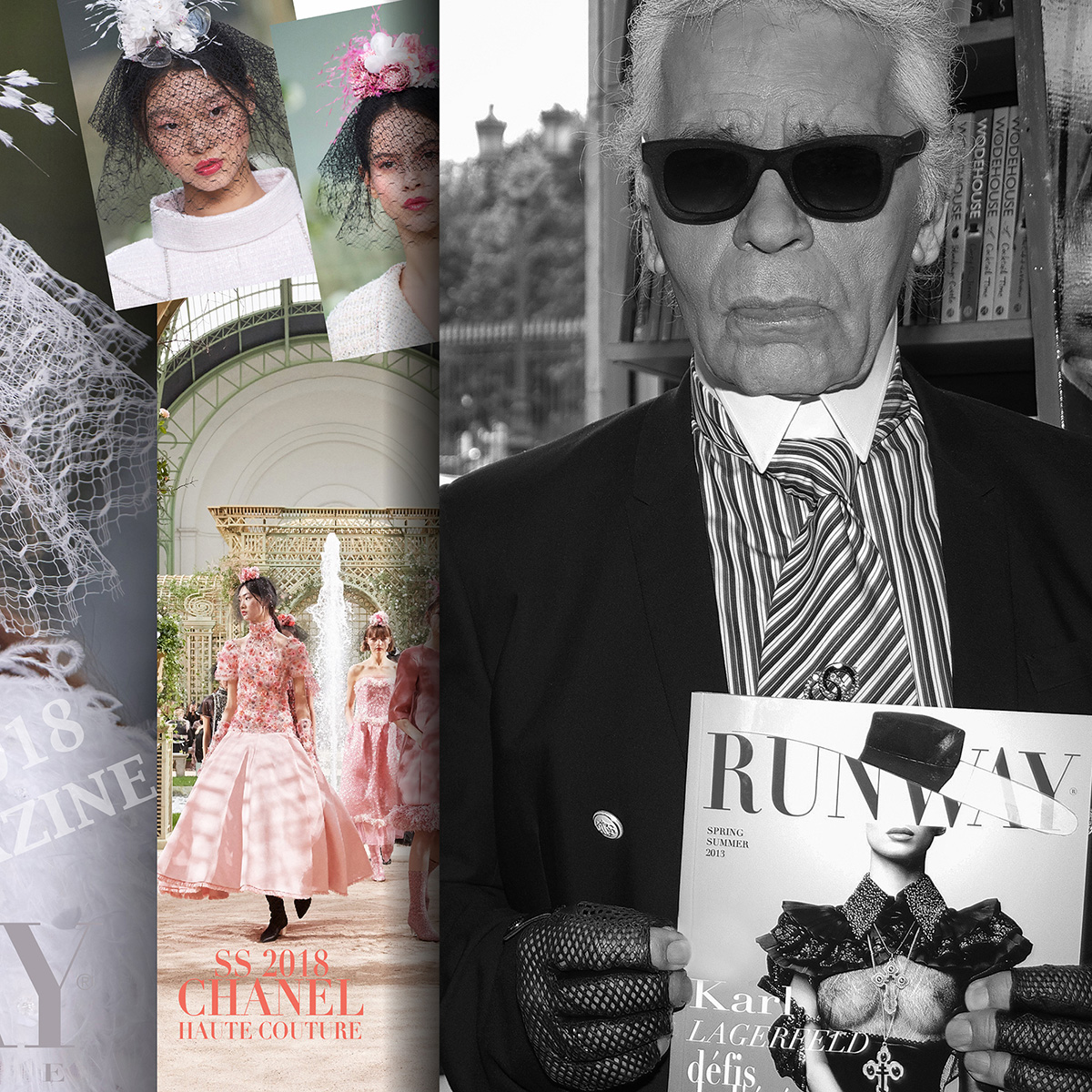 Karl Lagerfeld for Runway Magazine