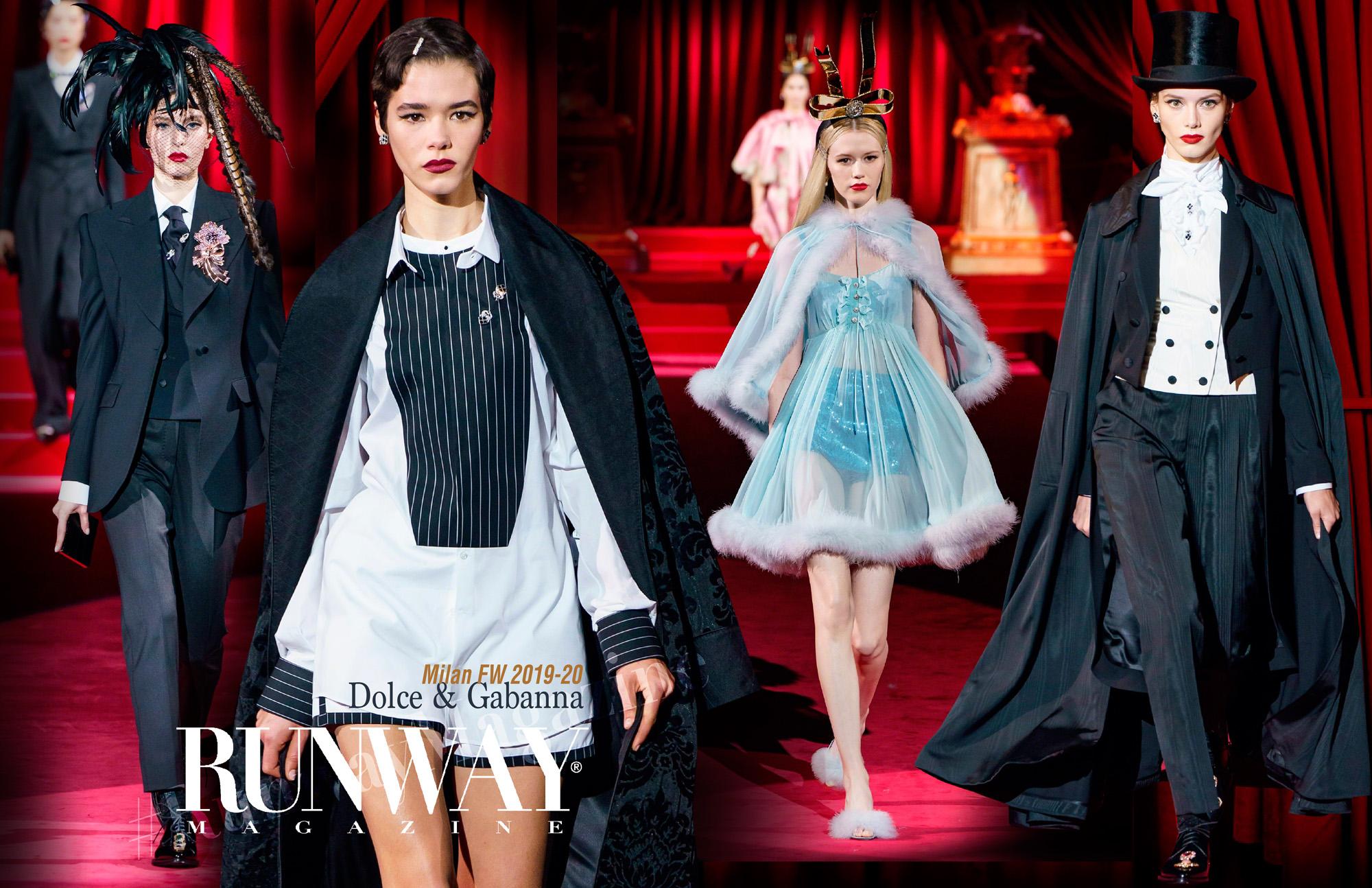 Dolce Gabanna Fall-Winter 2019-2020 Milan Fashion Week by Runway Magazine