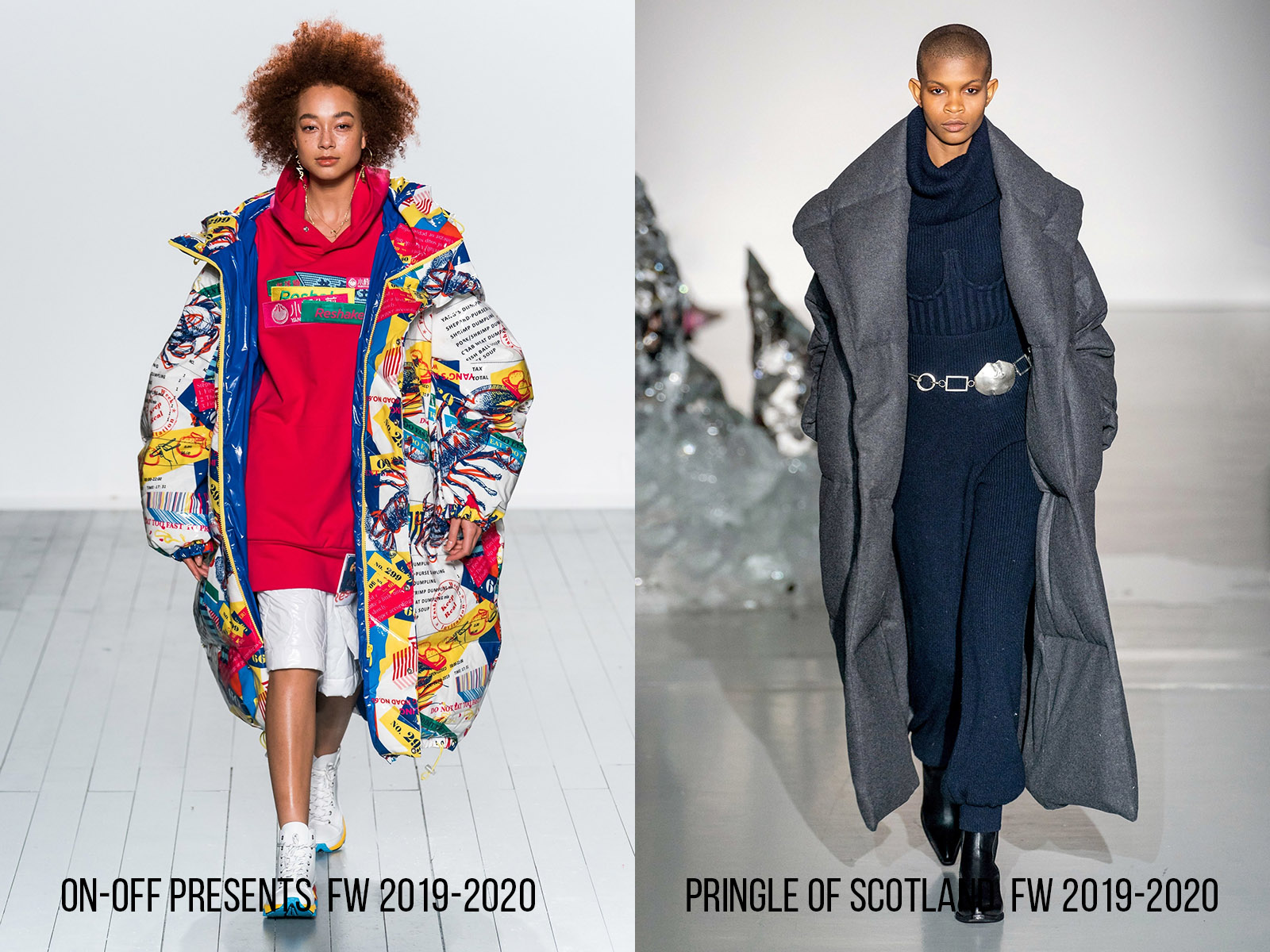 Trend - Puffer Dress Coat 2019.  ON-OFF Presents and Pringle of Scotland Fall-Winter 2019-2020