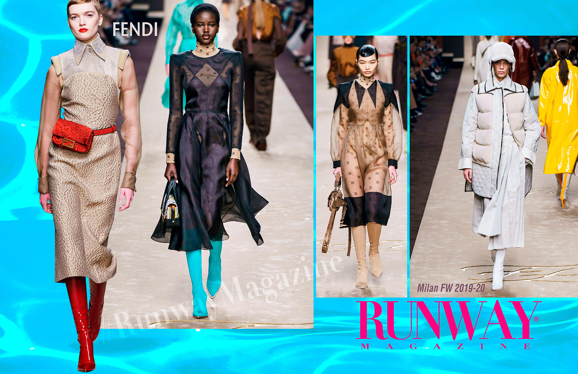 Fendi Fall Winter 2019-2020 Milan - last collection of Karl Lagerfeld