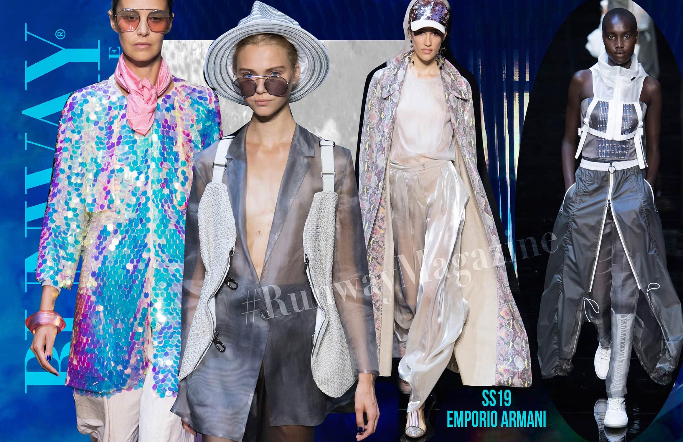 Emporio Armani Весна-Лето 2019 Милан от RUNWAY ЖУРНАЛ