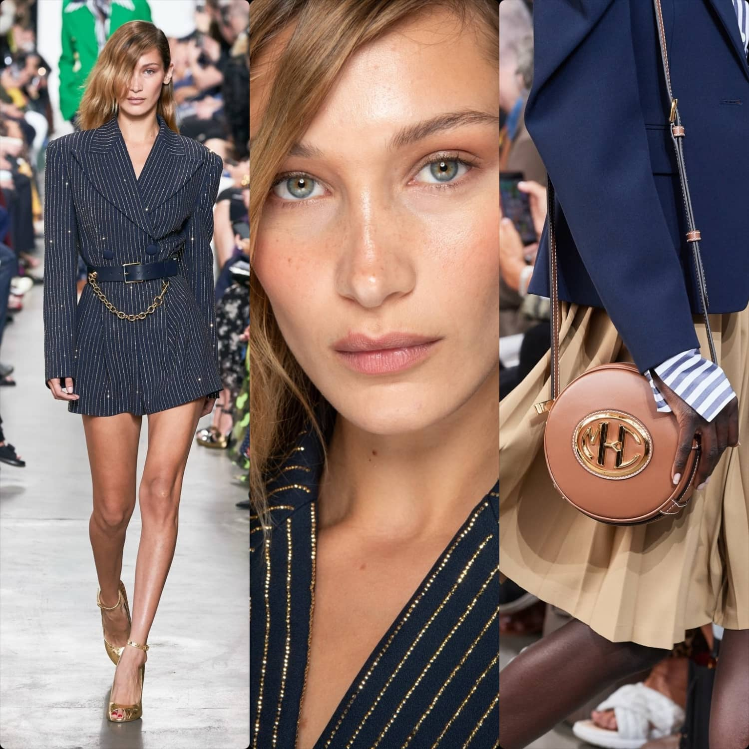 Michael Kors Spring Summer 2020 New York. Bella Hadid. RUNWAY MAGAZINE ® Collections. Photo Runway: Alessandro Lucioni / Gorunway.com, Photo Close Up: Alessandro Viero / Gorunway.com