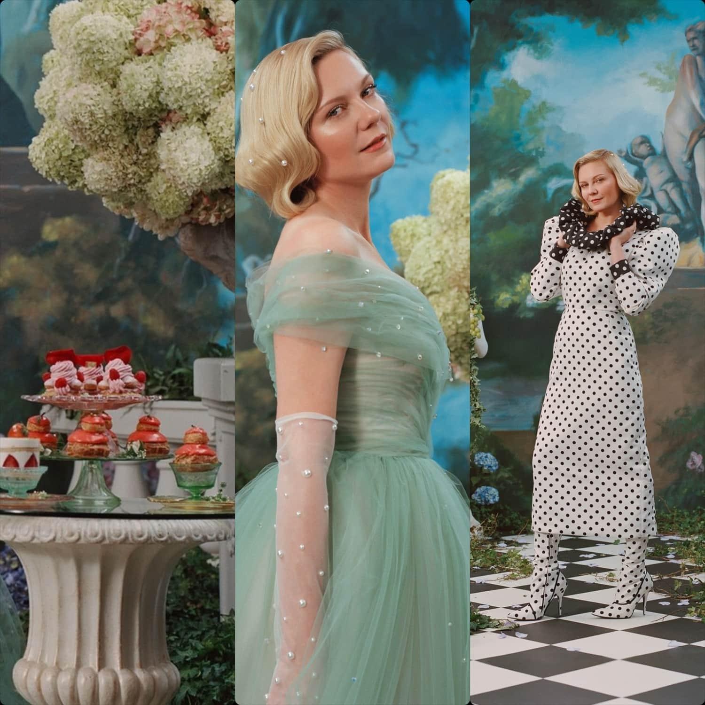 Rodarte Primavera Estate 2020 New York. Kirsten Dunst. RUNWAY MAGAZINE ® Collezioni. Foto: per gentile concessione di Rodarte