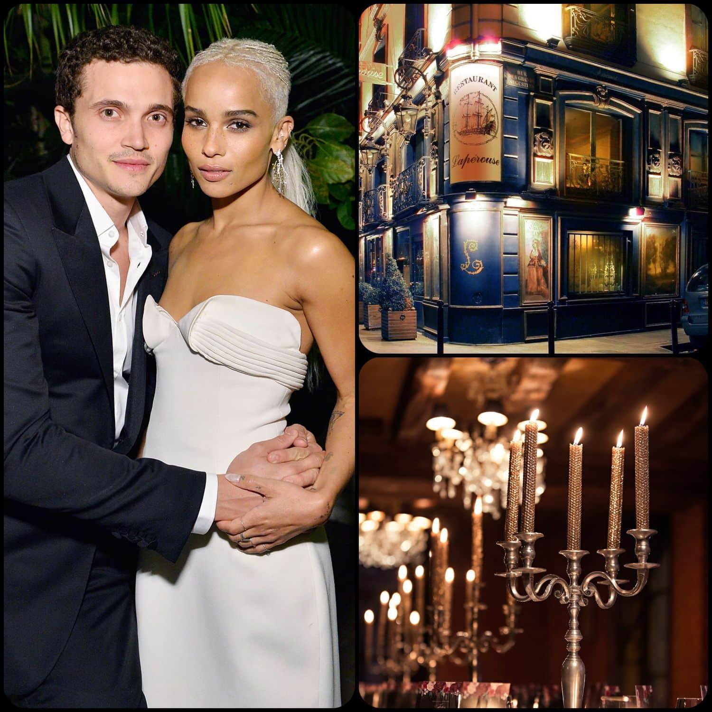 Zoe Kravitz e Karl Glusman si sono sposati a Parigi da RUNWAY RIVISTA. Restaurant Laperouse 28 giugno 2019