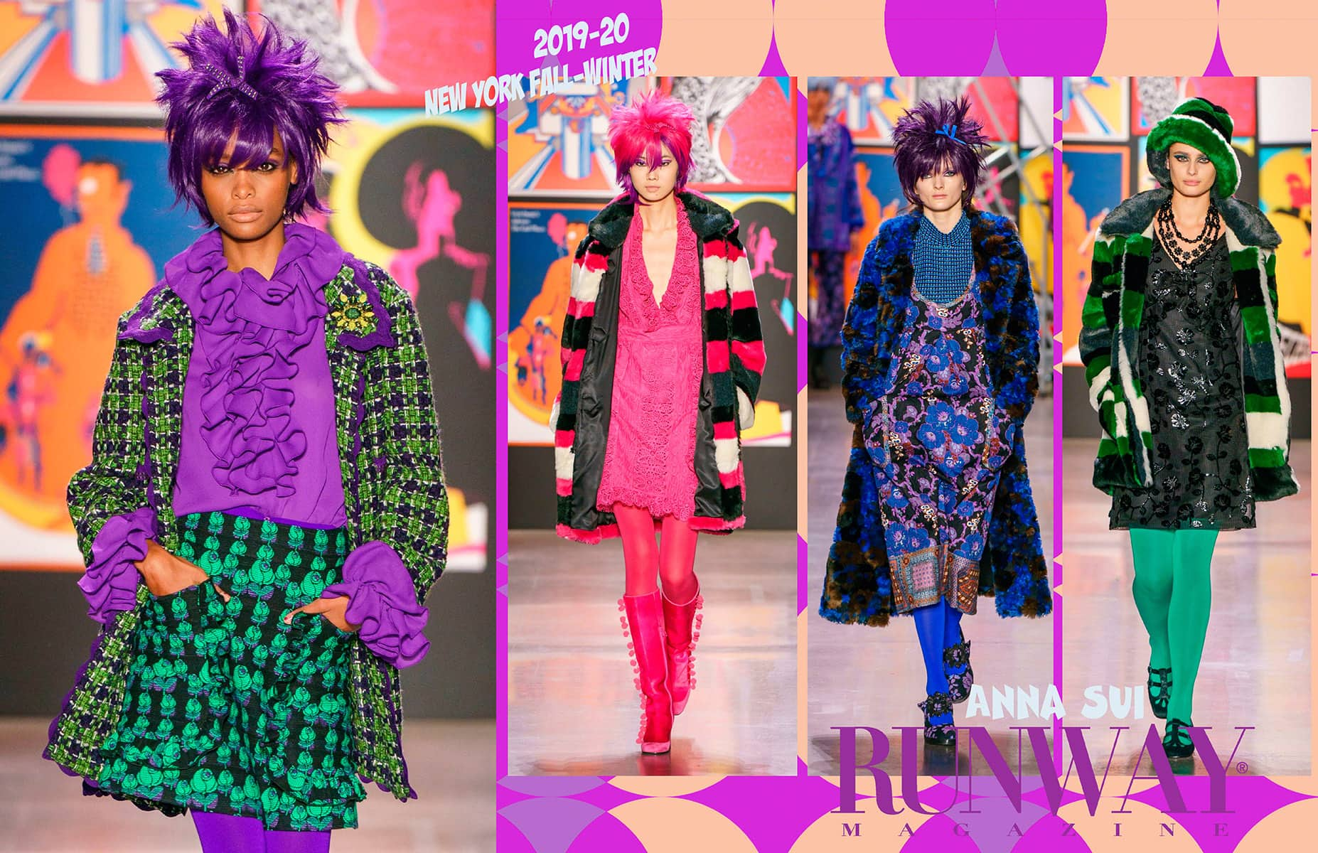 Anna Sui Fall Winter 2019-2020 New York by RUNWAY MAGAZINE