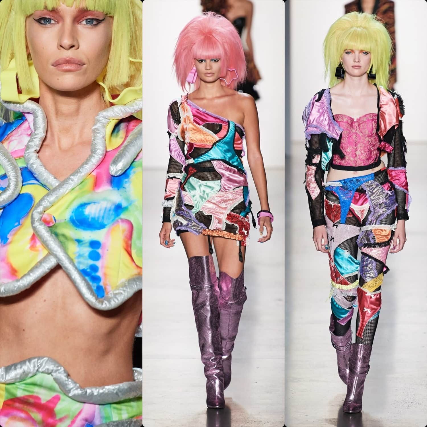 Jeremy Scott Spring Summer 2020 New York. RUNWAY MAGAZINE ® Collections. Photo RUNWAY: Filippo Fior / Gorunway.com, Photo DETAILS: Armando Grillo / Gorunway.com