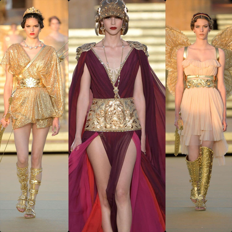 Dolce & Gabbana Alta Moda Temple of Concordia Sicily Fall Winter 2019-2020. RUNWAY MAGAZINE ® Collections