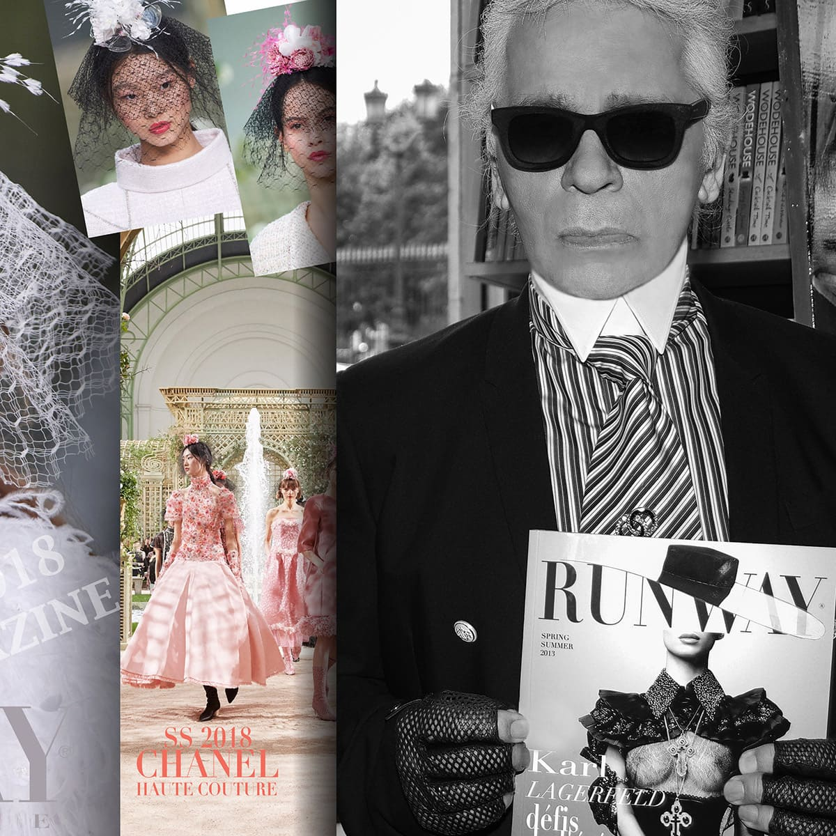 Karl Lagerfeld in support of RUNWAY MAGAZINE