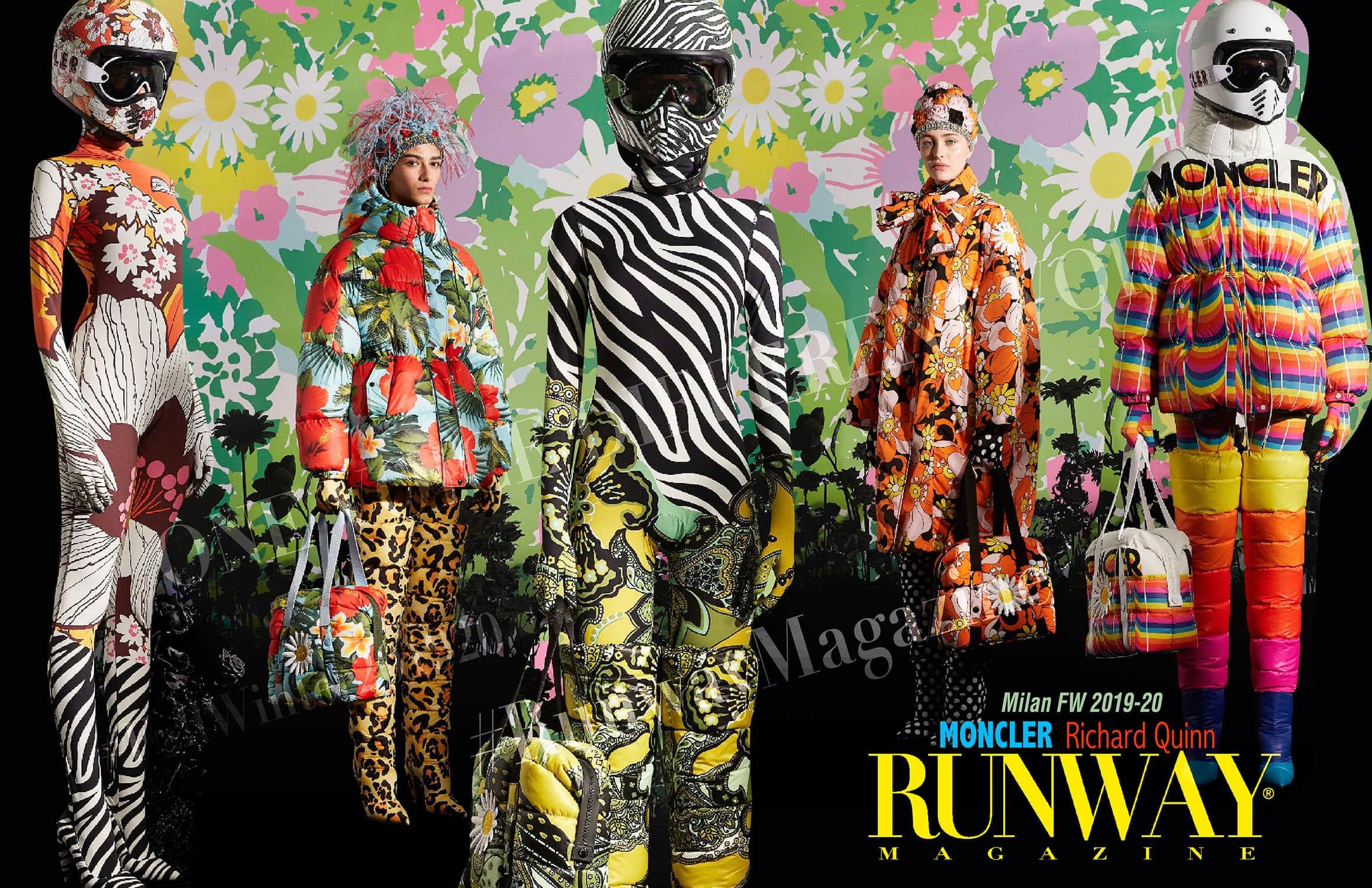 Moncler Genius Fall-Winter 2019-2020 Milan - Designer Richard Quinn by Runway Magazine