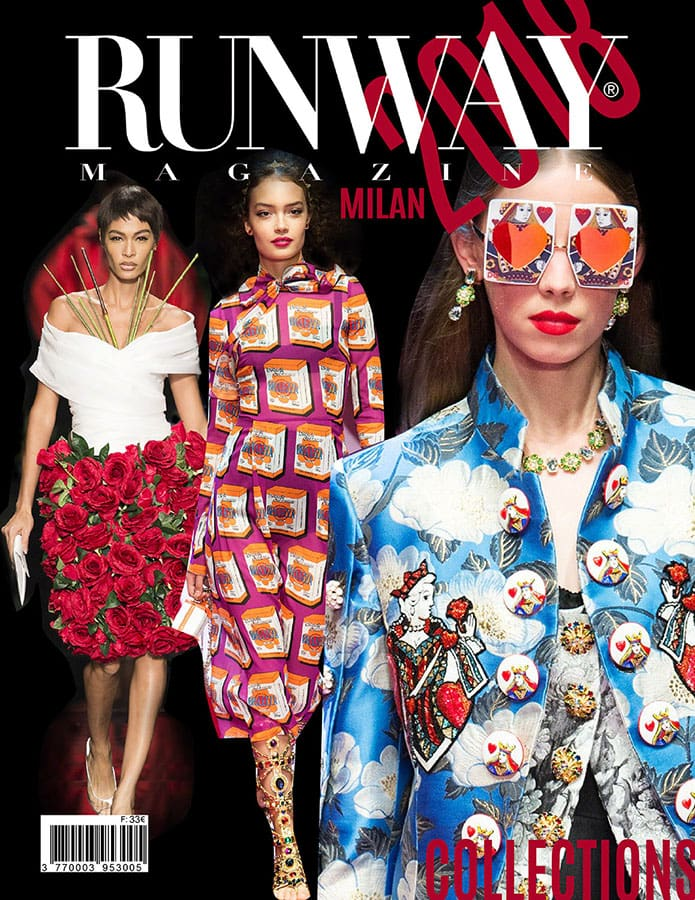 Runway Revista 2018 Cover Milan Cover