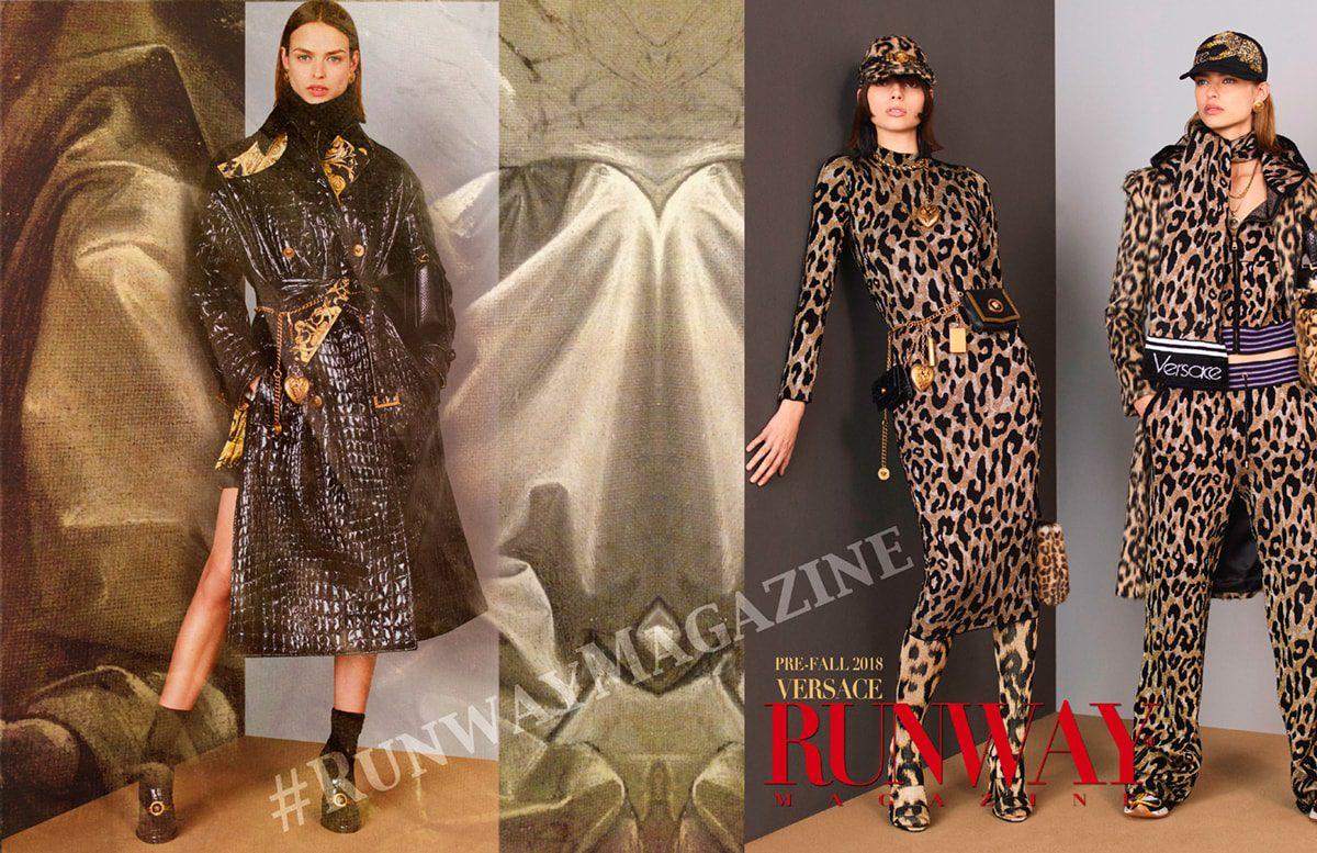 Versace Prefall 2018-19 Milan di RUNWAY MAGAZINE