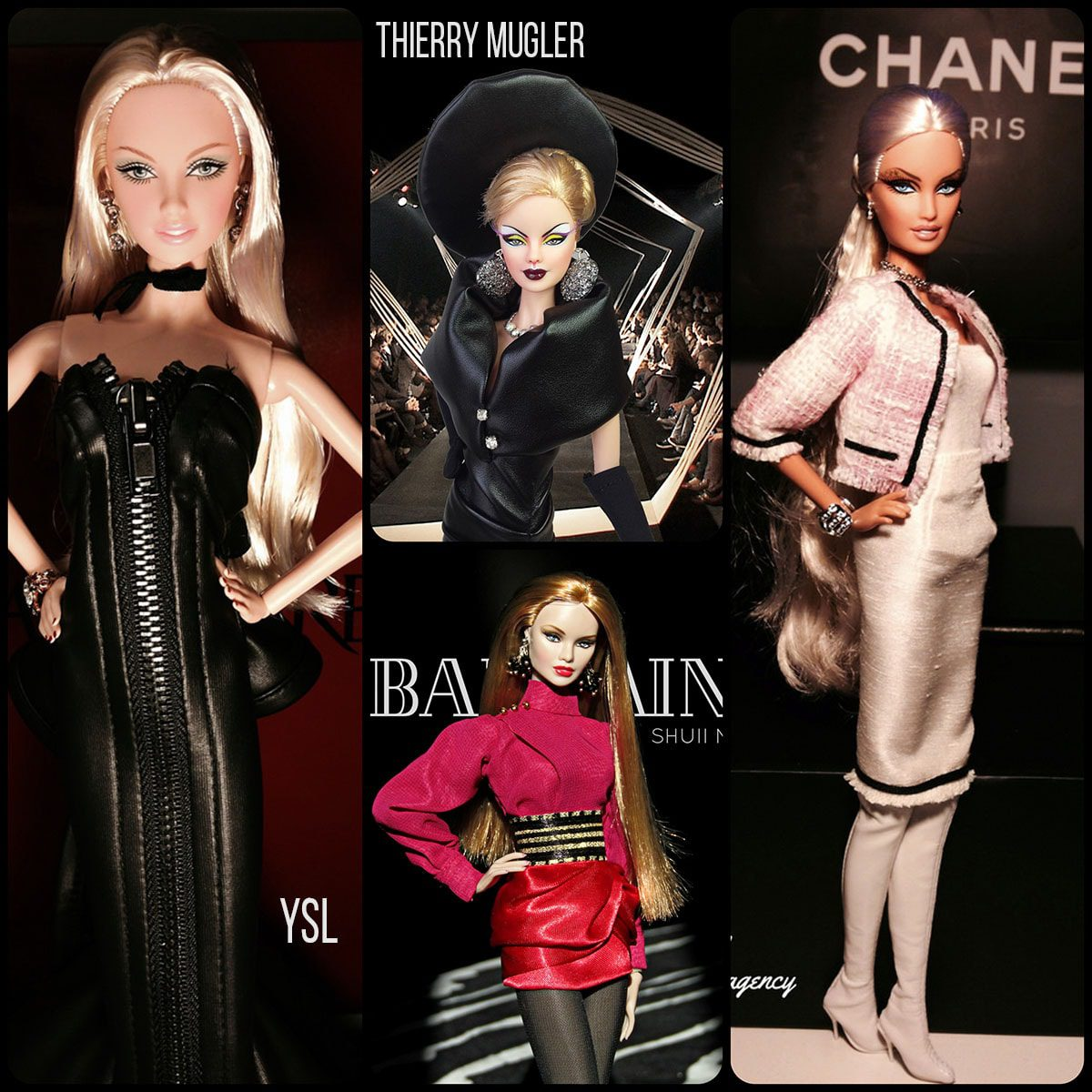 Barbie by Thierry Mugler, Chanel, Balmain and YSL by Runway Magazine