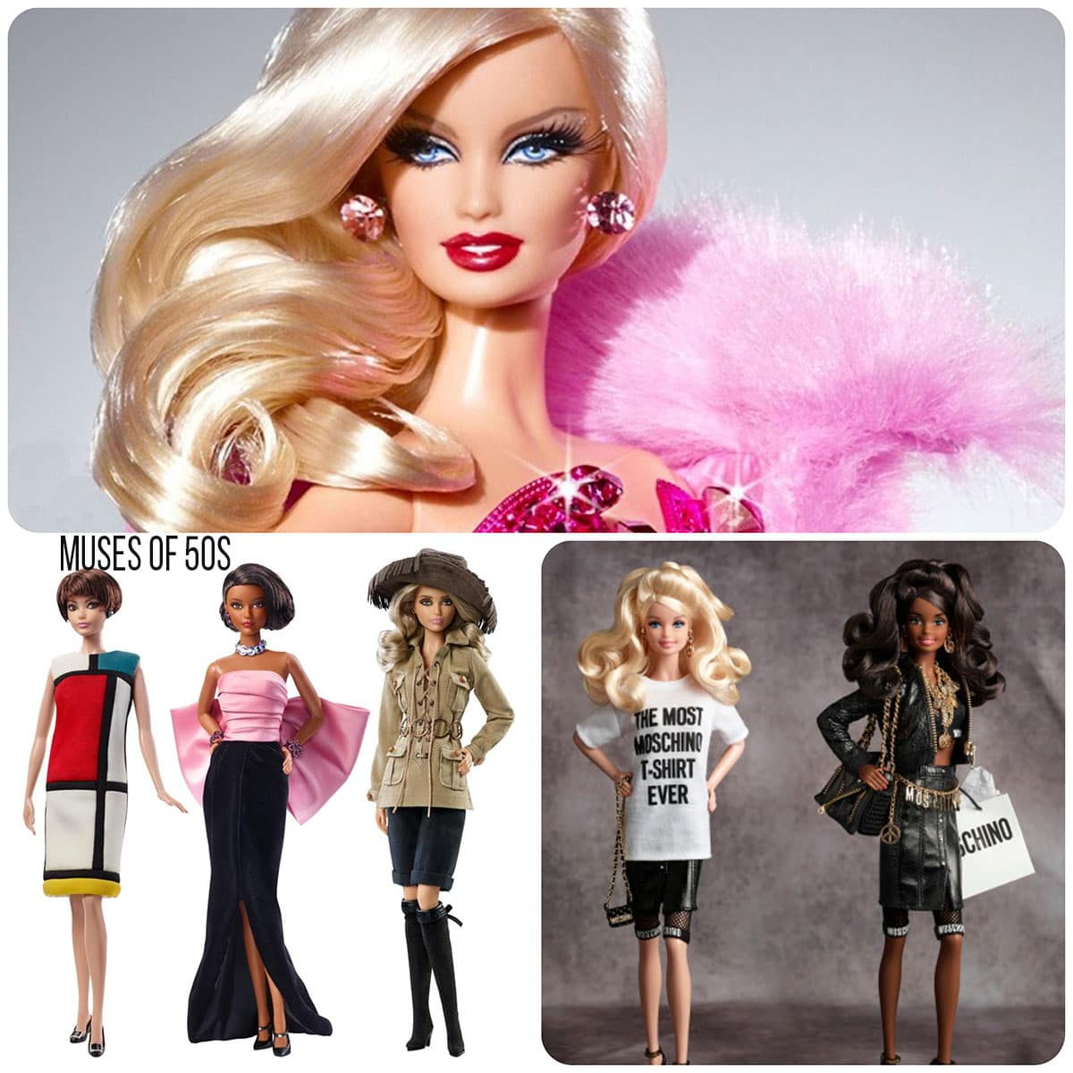 Barbie 55 Muses and Moschino by Runway Magazine
