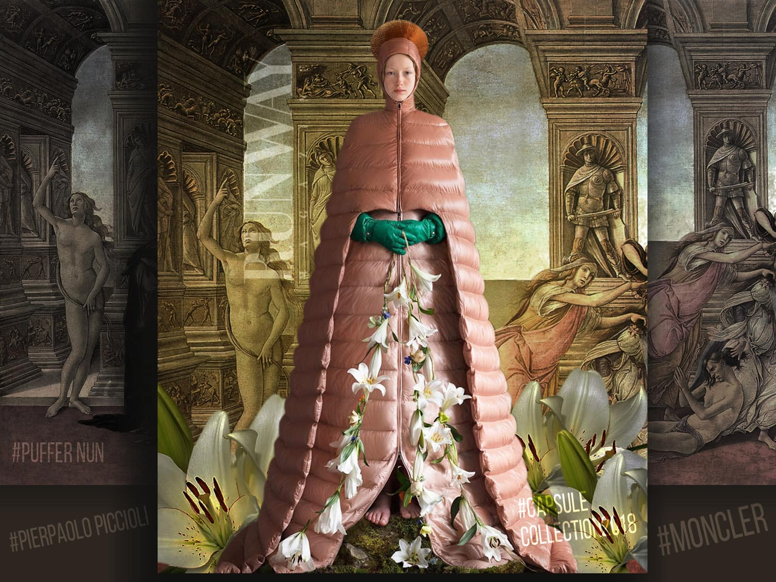 Moncler Puffer Coat Dress Collection 2018 by Pierpaolo Piccioli by Runway Magazine