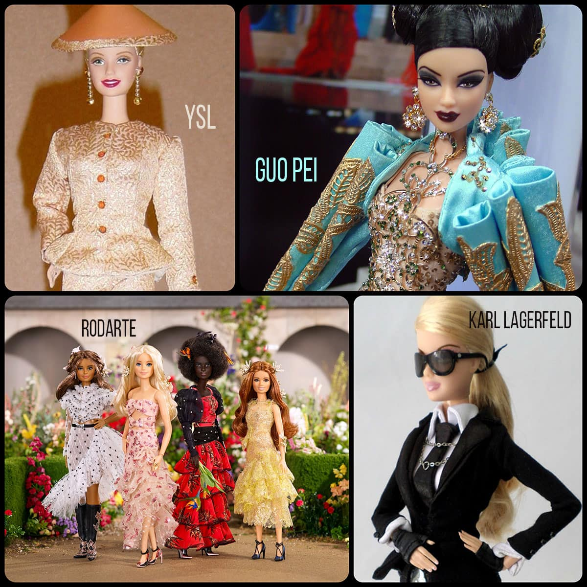 Barbie by Rodarte, Karl Lagerfeld, YSL and Guo Pei by Runway Magazine