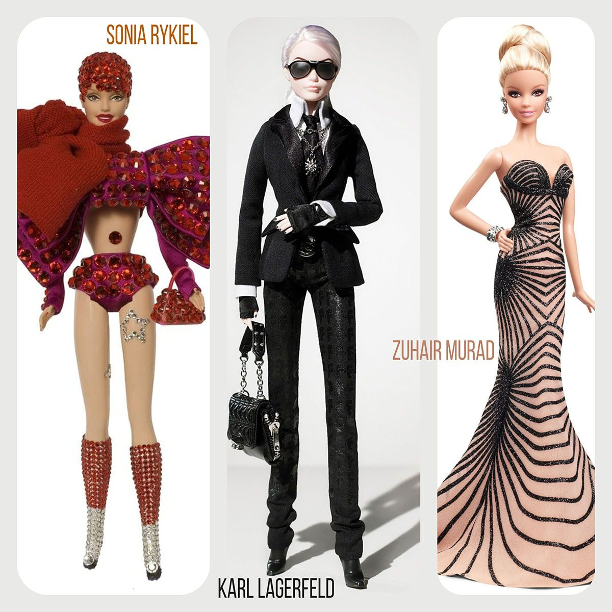 Barbie by Sonia Rykiel, Karl Lagerfeld and Zuhair Murad by Runway Magazine