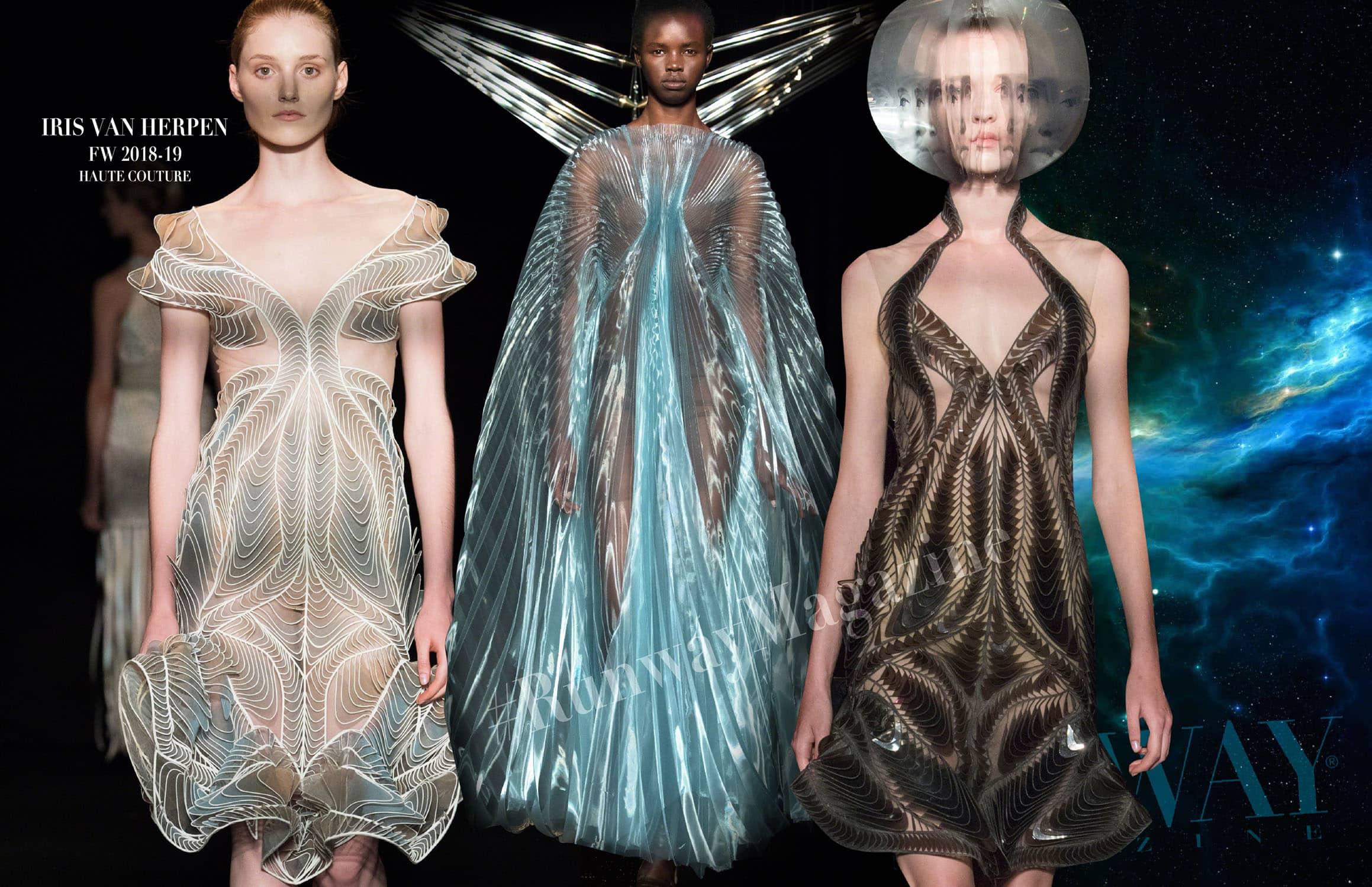 Iris van Herpen Haute Couture Осень-Зима 2018-19 Неделя моды в Париже, автор: RUNWAY ЖУРНАЛ