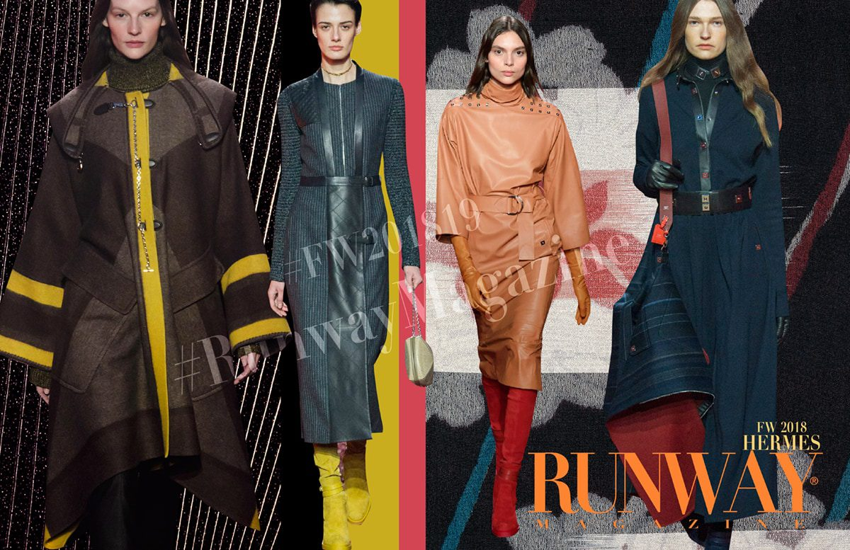 Hermes Fall-Winter 2018-19 Paris Fashion Week by RUNWAY MAGAZINE