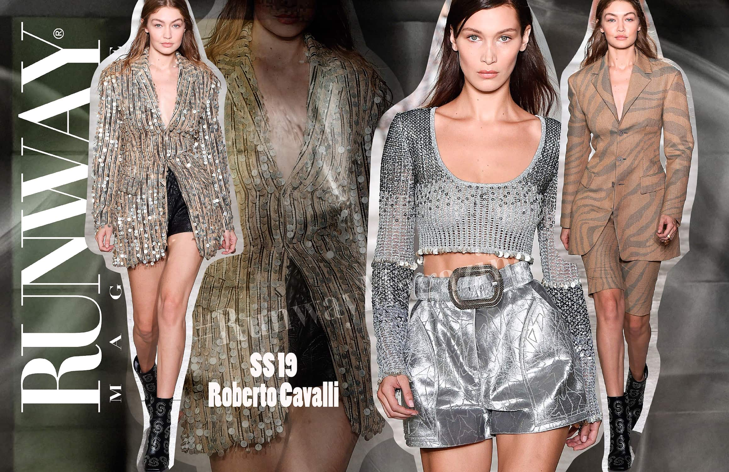 Roberto Cavalli Spring Summer 2019 Milan Fashion Week by RUNWAY MAGAZINE