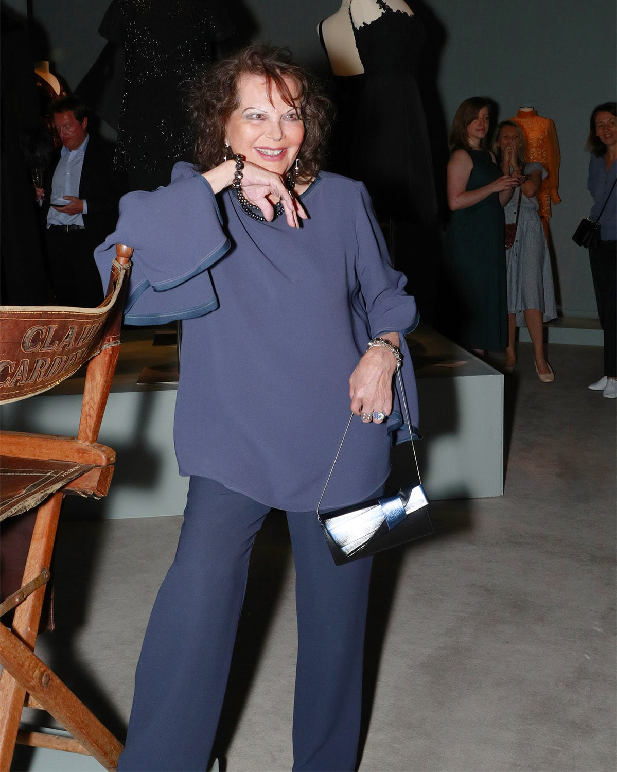 Claudia Cardinale at Sotheby's Paris auction opening by Runway Magazine