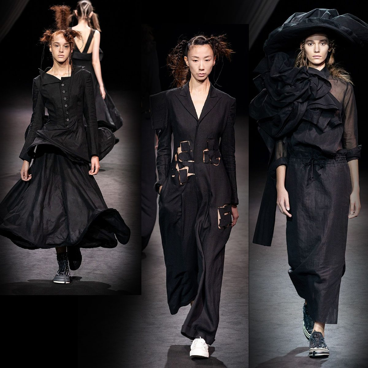 Yohji Yamamoto Spring Summer 2020 Paris Fashion Week by RUNWAY MAGAZINE