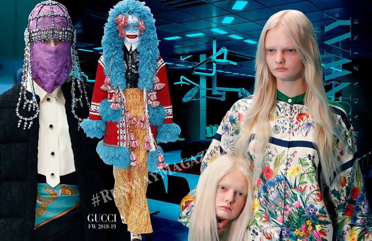 Gucci Fall-Winter 2018-19 Milan Fashion Week by RUNWAY MAGAZINE