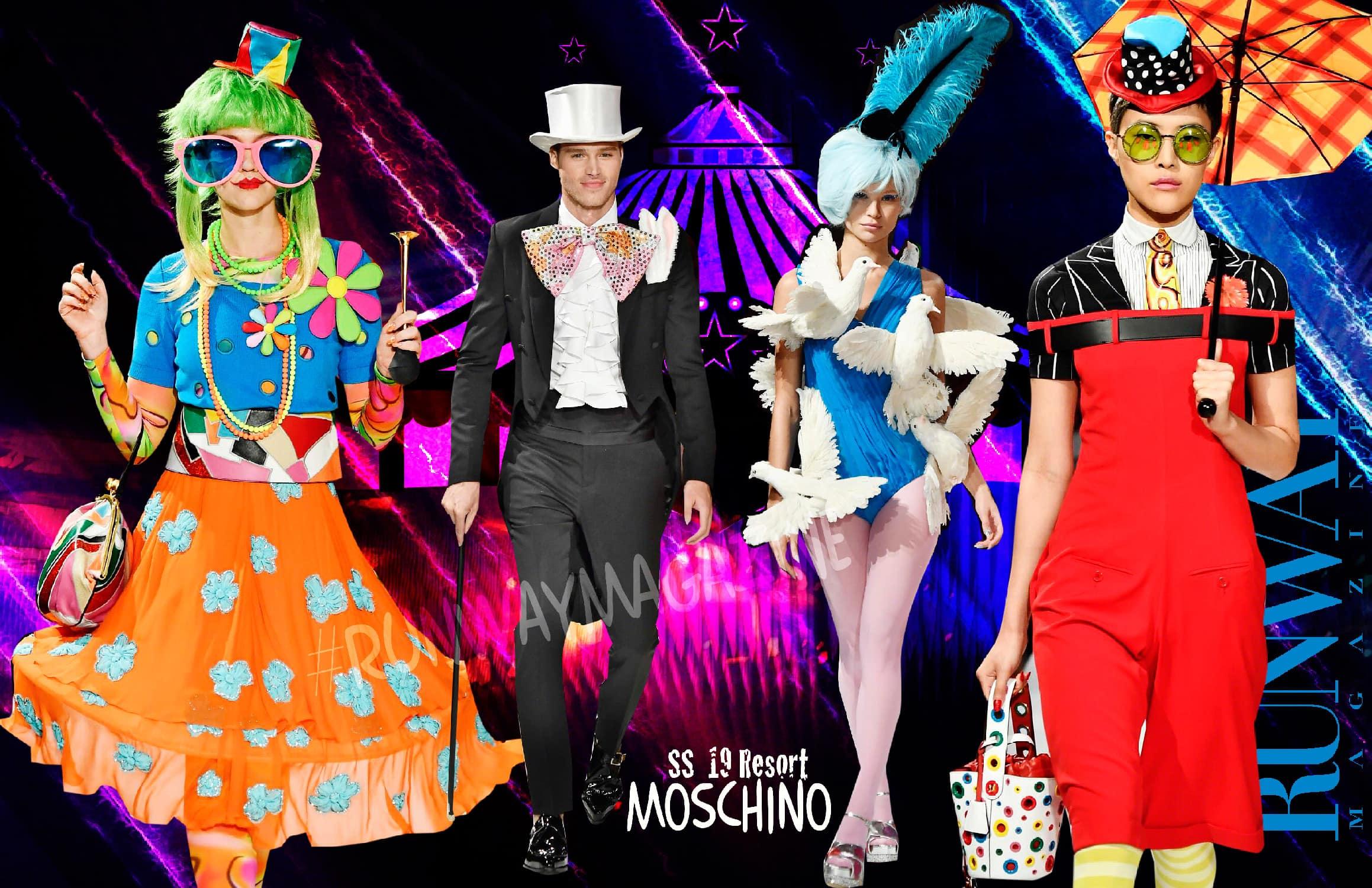 Moschino Circus Resort Estate 2019 di RUNWAY MAGAZINE