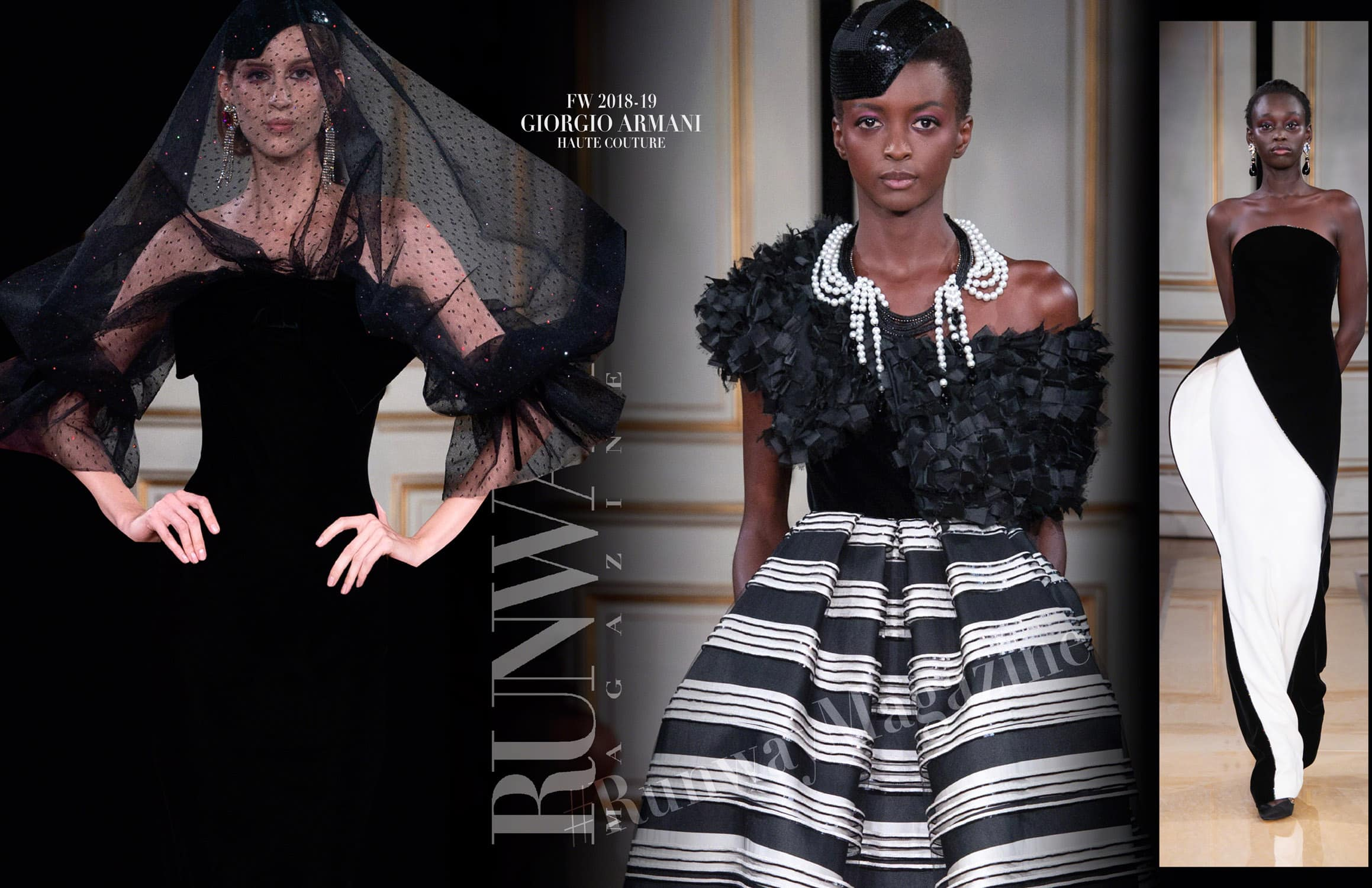 Giorgio Armani Haute Couture Fall-Winter 2018-19 Paris Fashion Week by RUNWAY MAGAZINE
