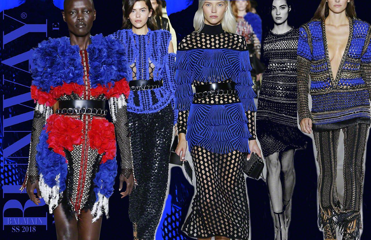 Blue Trend - BALMAIN-Spring Summer 2018 by Runway Magazine Paris Fashion Week
