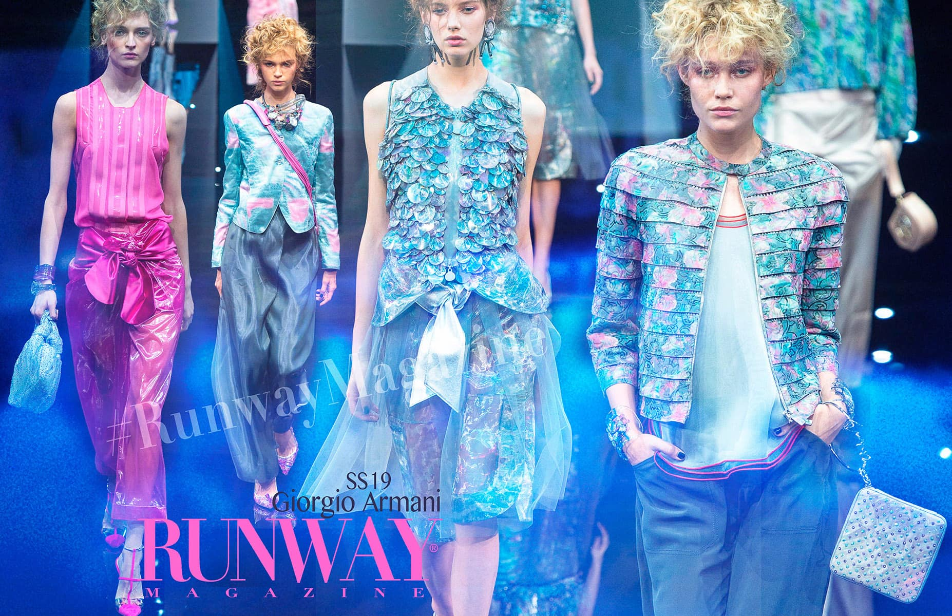Blue Trend - Giorgio Armani Spring Summer 2018 by Runway Magazine Paris Fashion Week