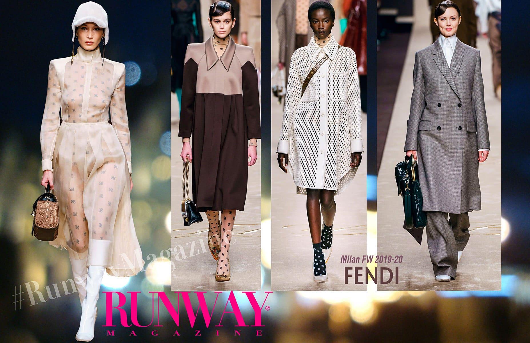 Fendi fall-Winter 2019-2020 Milan Fashion Week by RUNWAY MAGAZINE