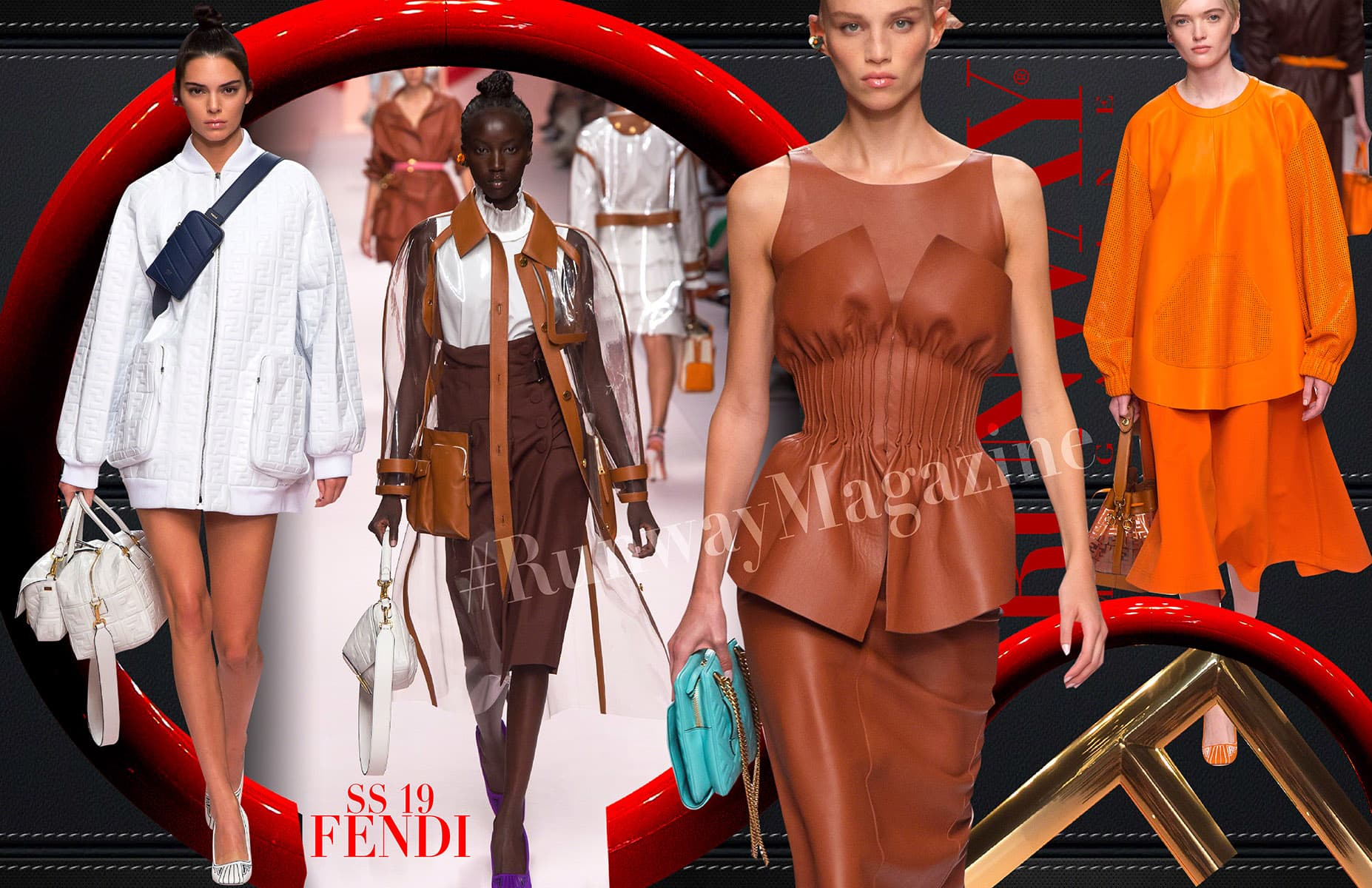 Orange trend - Fendi Spring Summer 2019 by Runway Magazine Milan Fashion Week