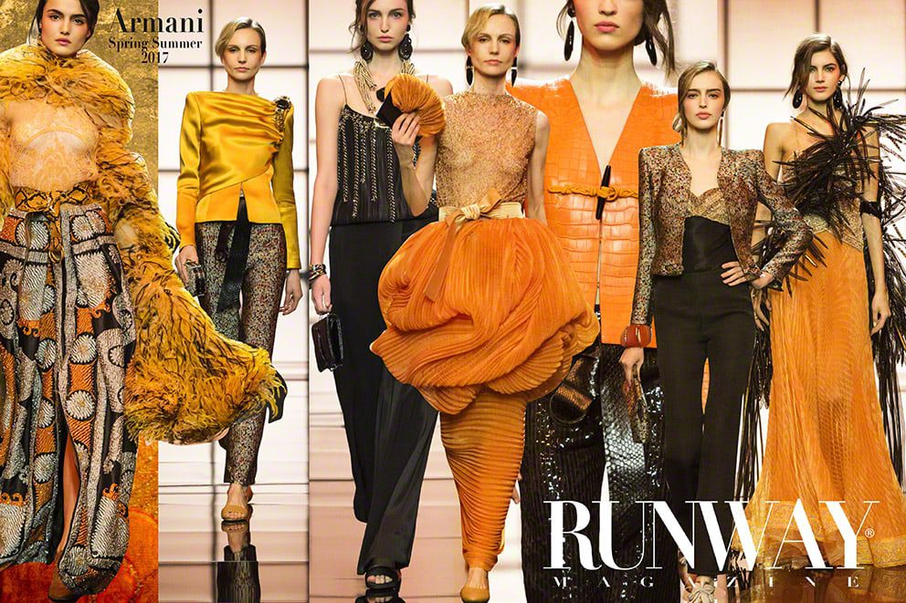 Orange trend - Giorgio Armani Spring Summer 2017 by Runway Magazine Paris Fashion Week