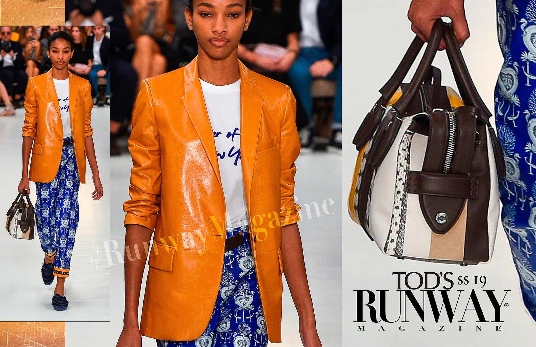 Orange trend - Tod's Spring Summer 2017 by Runway Magazine Milan Fashion Week