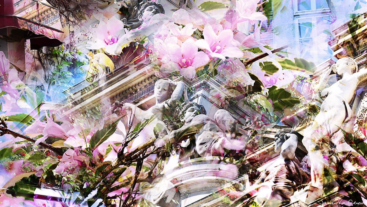 Orchidia - Samantha Ornon artist mix-media Paris by Runway Magazine