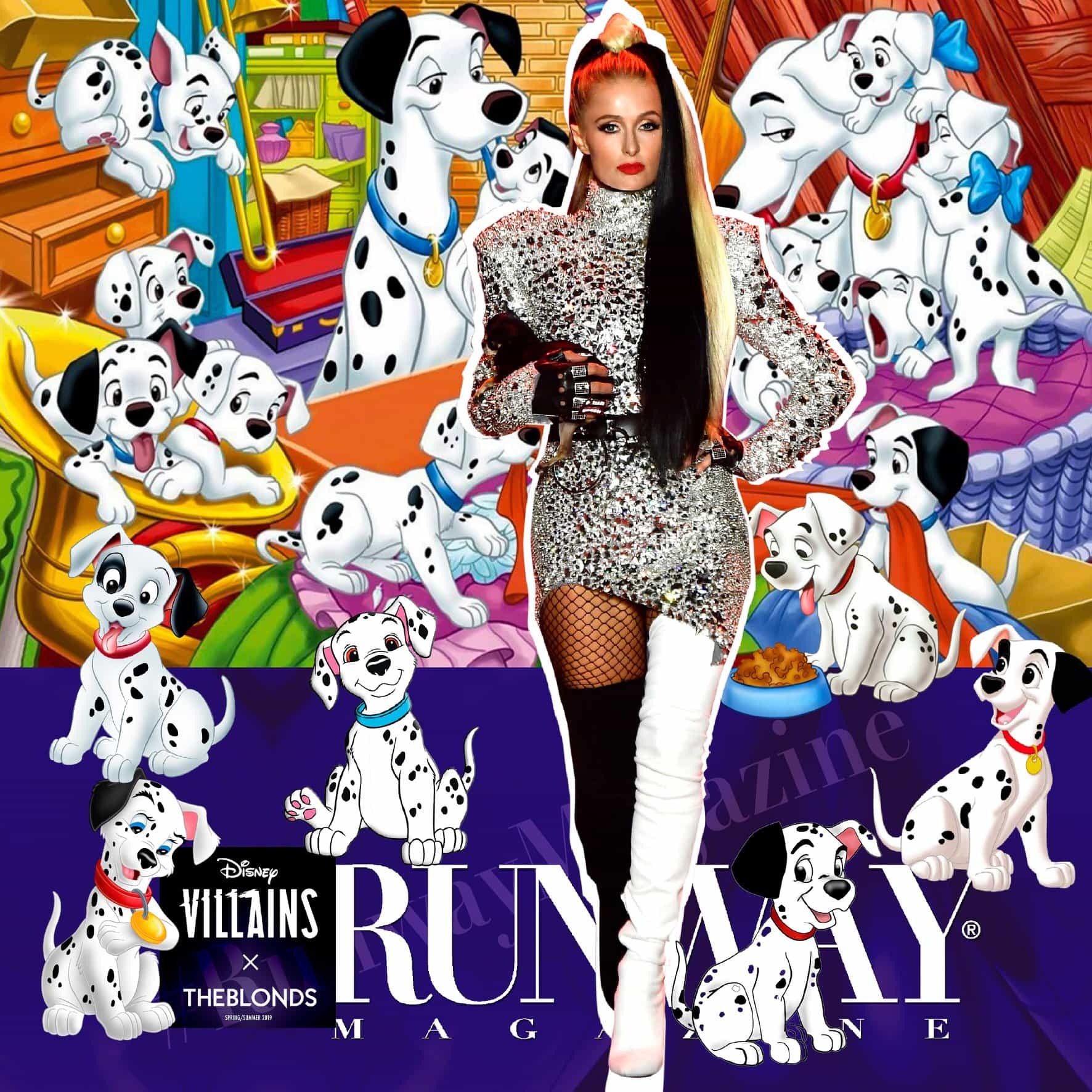 Paris Hilton Spring-Summer 2019 Disney Villains x The Blonds New York by RUNWAY MAGAZINE