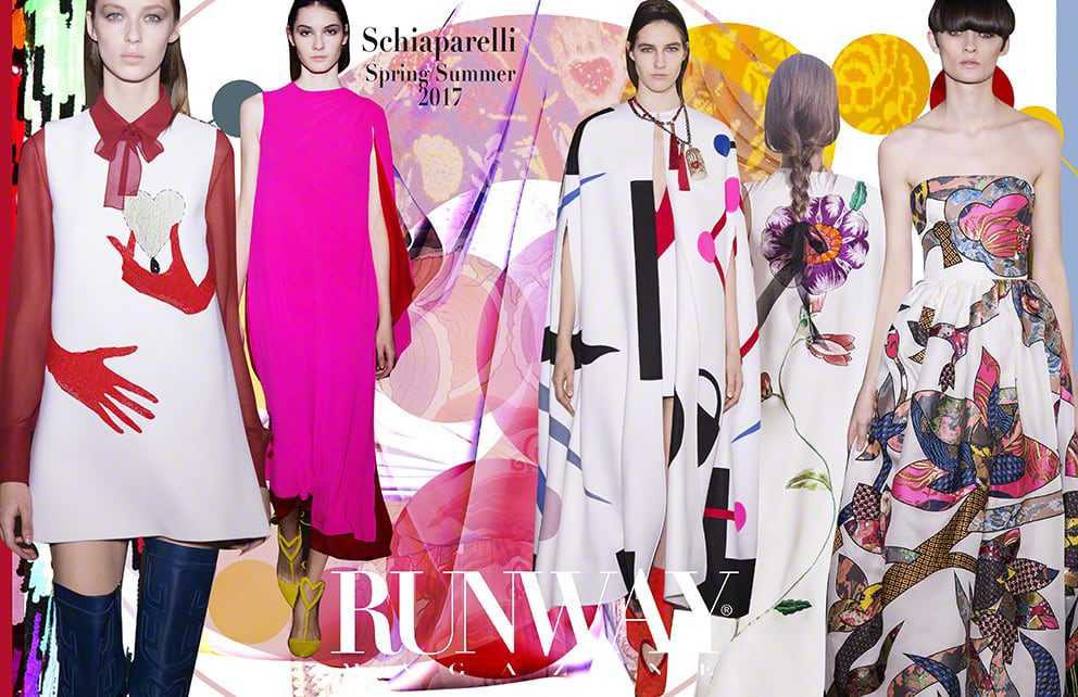 Pink trend - Schiaparelli Spring Summer 2017 by Runway Magazine Paris Fashion Week
