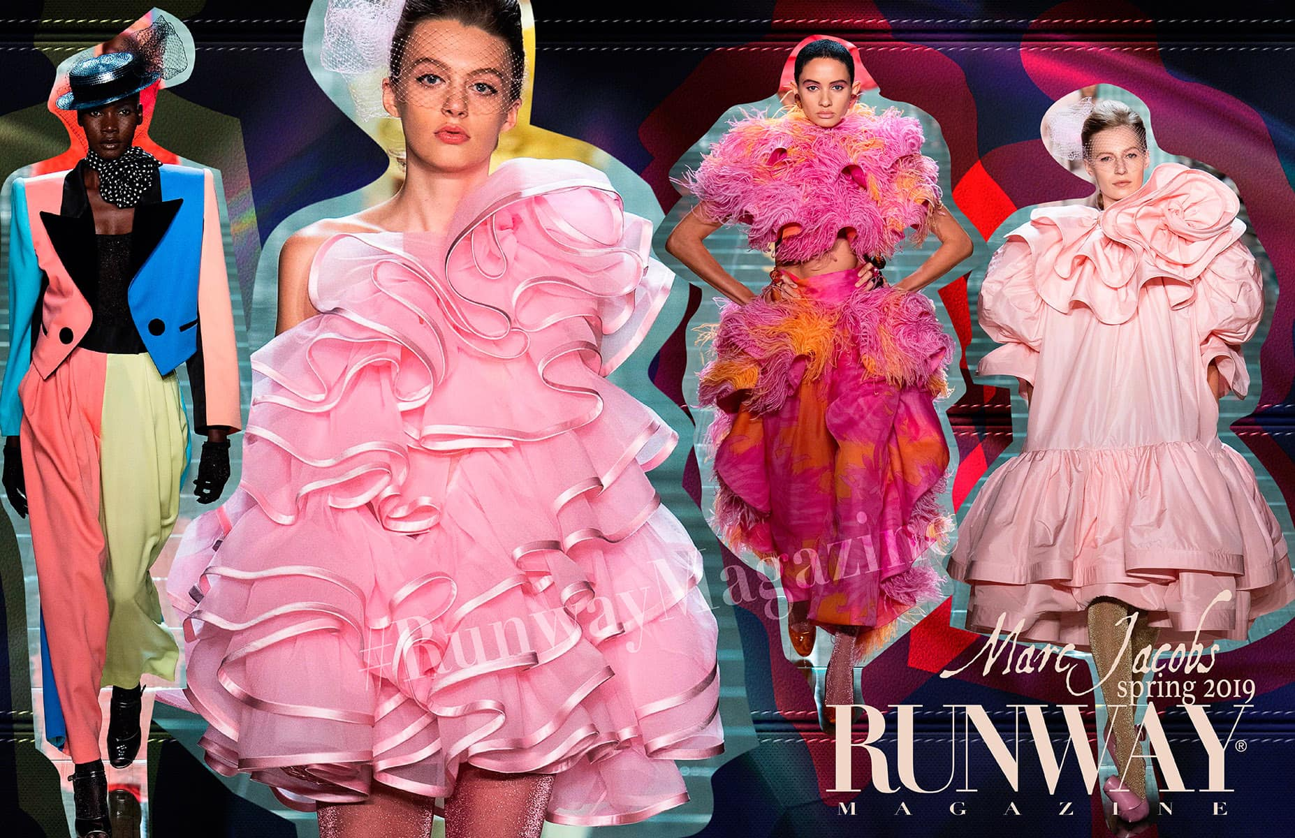 Pink trend - Marc Jacobs Spring Summer 2019 by Runway Magazine New York Fashion Week