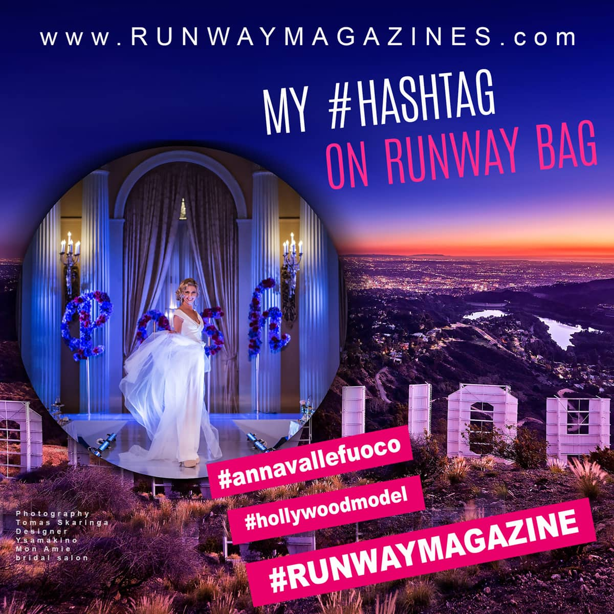 Story of Fashion Model Anna Vallefuoco - My Runway Bag by RUNWAY MAGAZINE