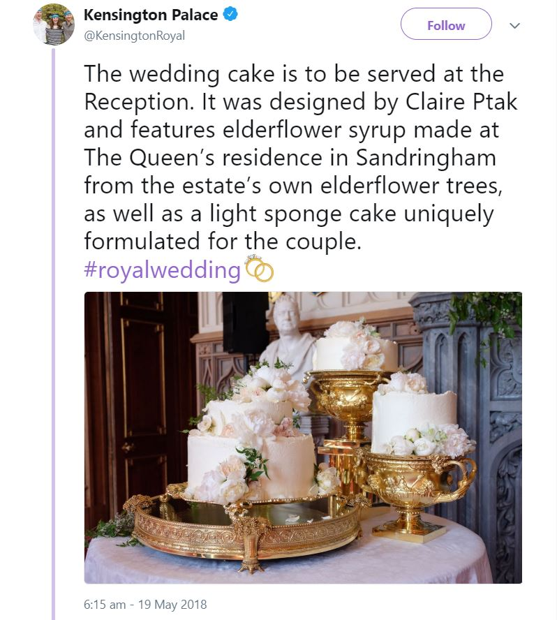 Kensington Palace - Royal Wedding Cake - Royal Wedding 2018 by Runway Magazine