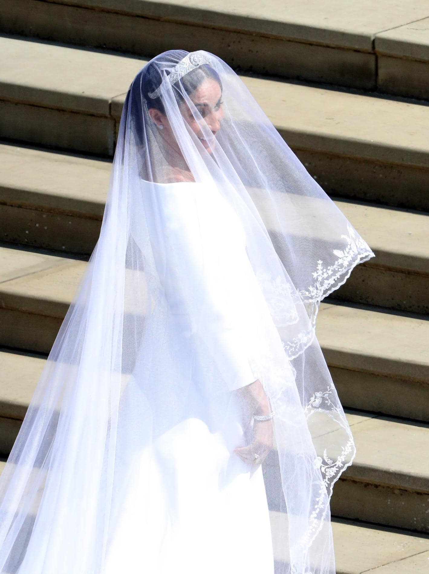 WINDSOR, UNITED KINGDOM - MAY 19: Meghan Markle arrives for her wedding to Prince Harry at St George's Chapel, Windsor Castle on May 19, 2018 in Windsor, England. (Photo by Andrew Matthews - WPA Pool/Getty Images) - Royal Wedding 2018 by Runway Magazine