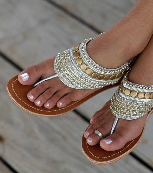 Egyptian sandals Cleopatra by RUNWAY MAGAZINE