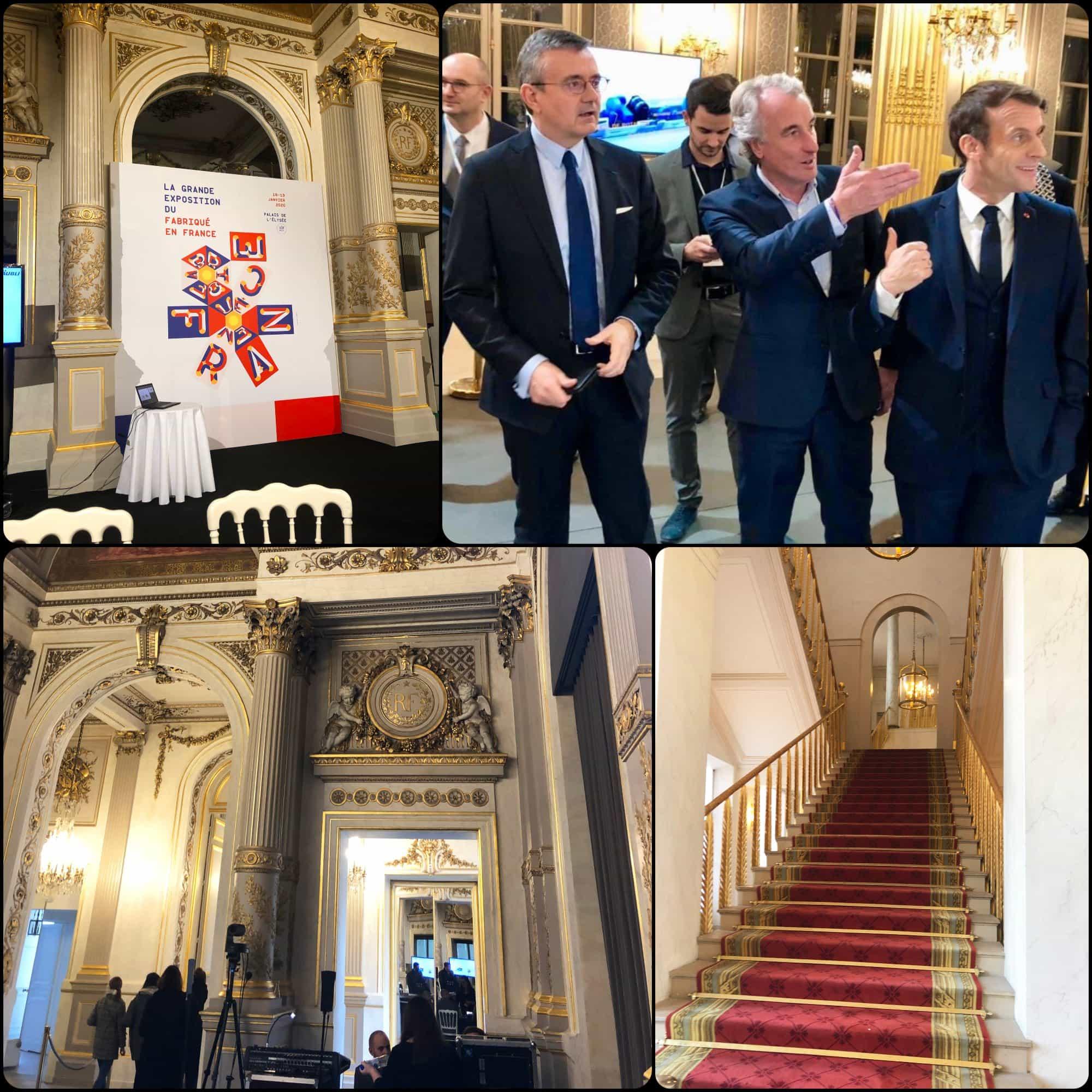 Emmanuel and Brigitte Macron - Grand Exhibition opening at Elysée. Fabriqué en France à Présidence de la République par RUNWAY MAGAZINE