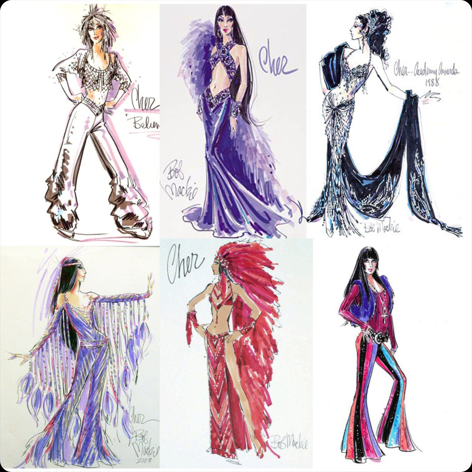 Costumes of Bob Mackie for Cher 1988-2003